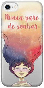 Capa iPhone/5s/SE/5 - Nunca Pare de Sonhar