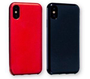 Capinha para iPhone X / XS - Glow Red / Black - Kit com 2 unidades