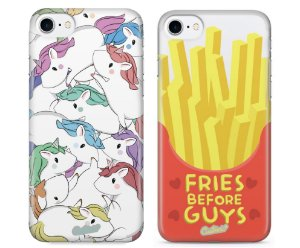 Capinhas para iPhone 8 Plus - Unicórnios / Fries before guys - Kit com 2 und