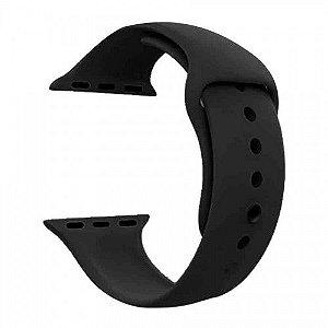Pulseira para Smartwatch em Silicone Preta - 38/40mm