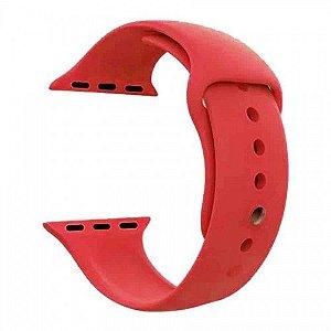 Pulseira para Smartwatch em Silicone Vermelha - 42/44mm