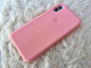 Capa para iPhone X - Silicone Flexível Rosa
