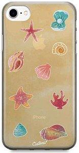 Capinha para iPhone 8 Plus - Feminina - Conchas do mar