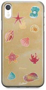 Capinha para iPhone X / Xs - Feminina - Conchas do mar
