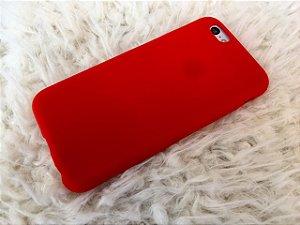 Capinha para iPhone 6s - Silicone Flexível Vermelha