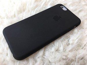 Capinha para iPhone 6s - Masculina - Silicone Flexível Preta - Logo