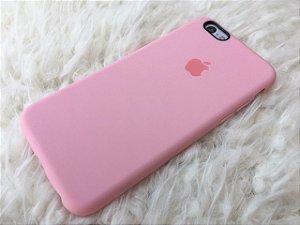 Capinha para iPhone 6s - Silicone Flexível Rosa - Logo