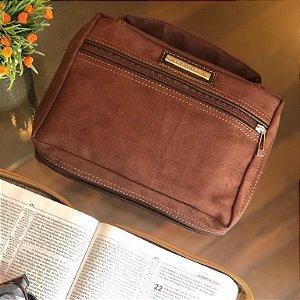 bolsa para bíblia camurça- moda evangélica