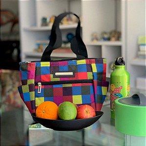 Bolsa Térmica estampa xadrez colorido Fit