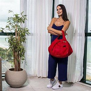 Bolsa feminina tecido nylon vermelha House