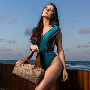 Bolsa de praia Bege de tela Basset