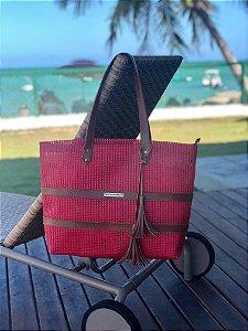 Bolsa de Praia Vermelha de Tela Barca