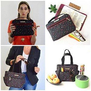 Kit bolsa para biblia e bolsa termica estampa Estrela