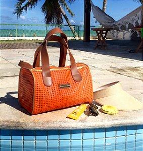 Bolsa de praia Laranja em tela Basset
