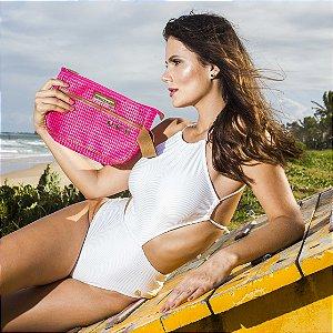 Necessaire de praia Pink Tela Ótima