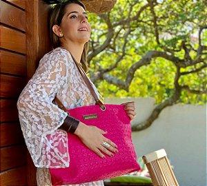 Bolsa de Couro Ecologico Pink Basic