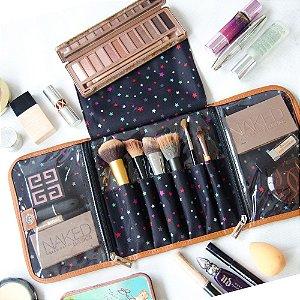 Porta Maquiagem Estampa Estrelas