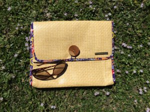 Clutch de palha natural grande Max