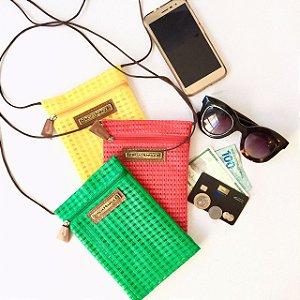 Kit com 3 bolsas colar em tela