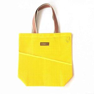Bolsa de Praia de Tela  Amarela Vertical
