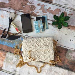 Bolsa crochet Natural libelula