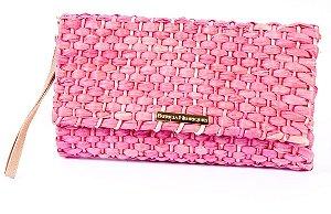 Carteira de palha pink milho ponta