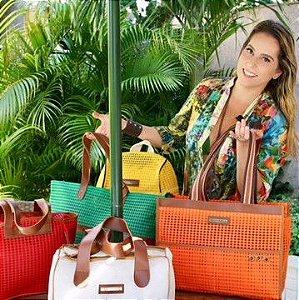 Kit Atacado bolsas de praia coloridas com 15
