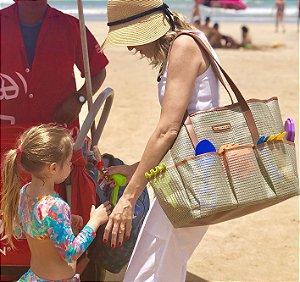 Bolsa Maternidade Praia Nude Tela Mãe