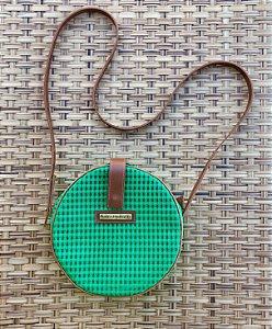 Bolsa Redonda Verde Tela