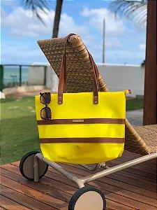 Bolsa de Praia Amarela de Plástico Impermeável Barca