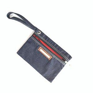 Porta Celular bolsinha jeans Vou ali