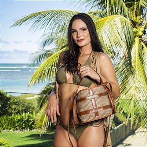 Bolsa de praia nude tela Fashion Baldinho