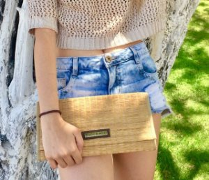 Clutch de palha natural esteira