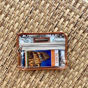 Porta passaporte duplo - estampa Viagem