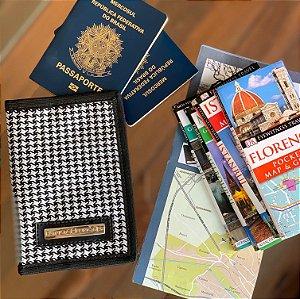 Capa para passaporte Preta e Branca