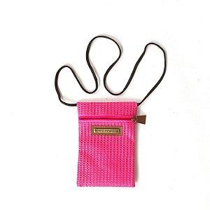 Bolsinha colar pink Tela