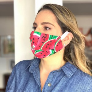 Máscara de Tecido  Dupla Face Estampa Melancia