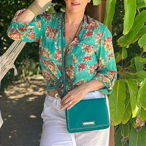 Bolsa verde esmeralda
