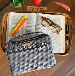 bolsa para bíblia Tie Dye Cinza