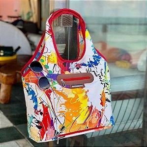 Bolsa de tecido nylon chuva estampa color