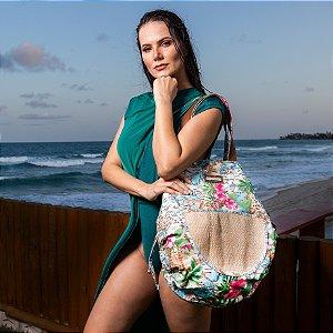 Bolsa de tecido grande estampa Havaí Bel