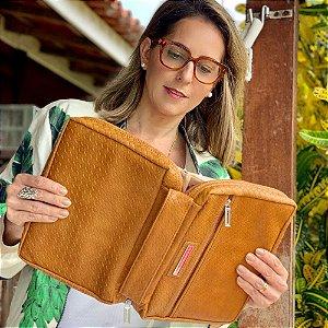 Bíblia G Bolsa para couro Caramelo Trece