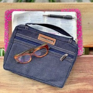Bolsa para bíblia Grande  Jeans - G