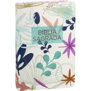 Bíblia Sagrada Capa Flores