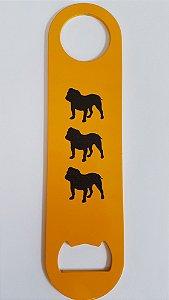 Abridor de Garrafa - Metal - Amarelo