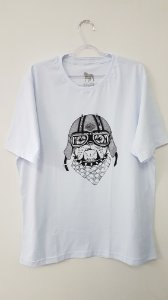 Camiseta Unissex - Dog Motoqueiro - Branca