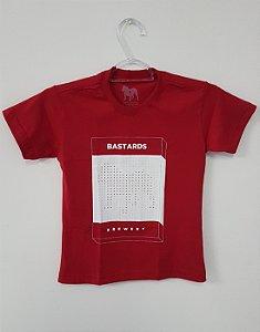 Camiseta Infantil Vermelha - Box