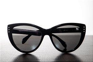 Óculos de Sol Olho de Gato - Feminino - Preto