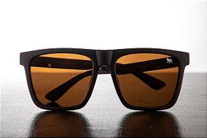 Óculos de Sol Quadrado - Masculino - Marrom