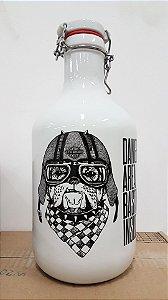 Growler de Cerâmica 2L - Dog Motoqueiro - Várias cores disponíveis